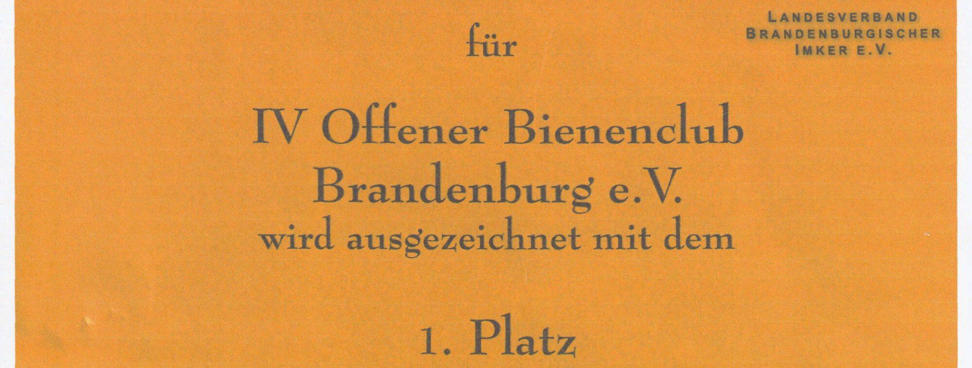 Offener BienenClub Brandenburg e.V